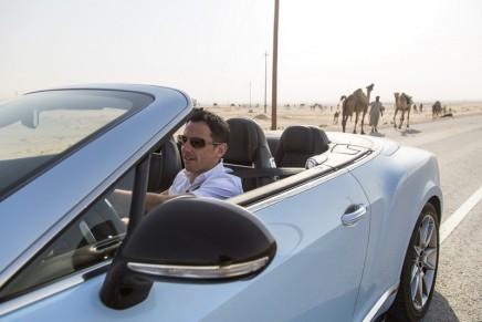 Bentley sprint against Saudi Arabia's only desert passenger train