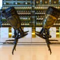 Beverly Hills - the most expensive house ever sold in Beverly Hills-details of the wine cellar doors
