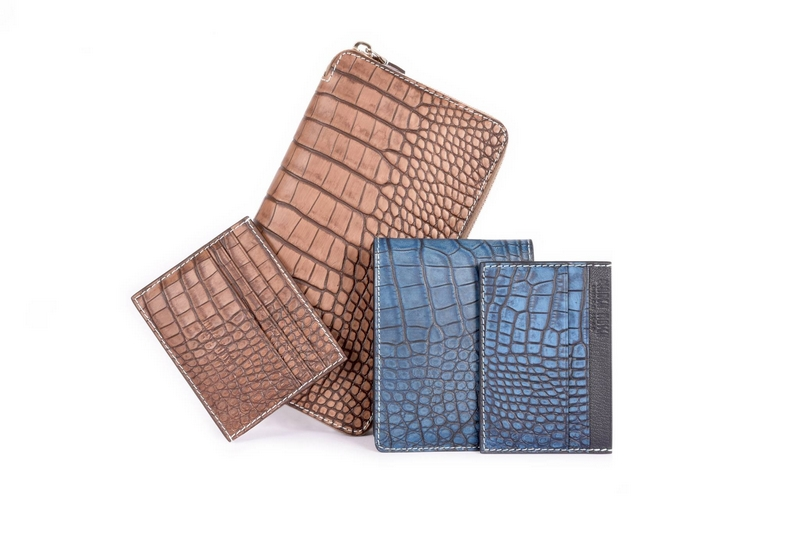 Bianca Mosca luxury accessories made from ethically sourced exotic leathers - alligator skins