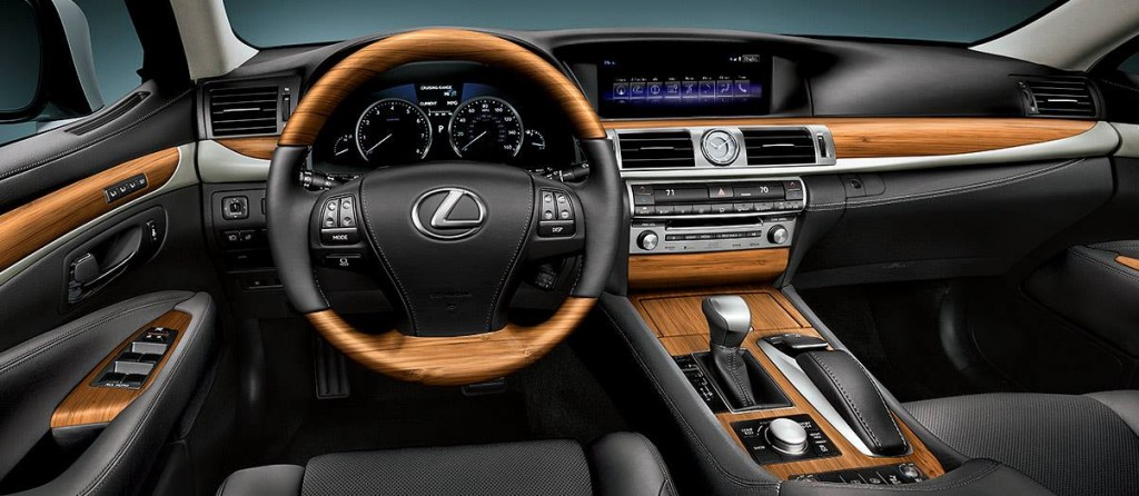 Black Leather Matte Bamboo interior on the Lexus LS
