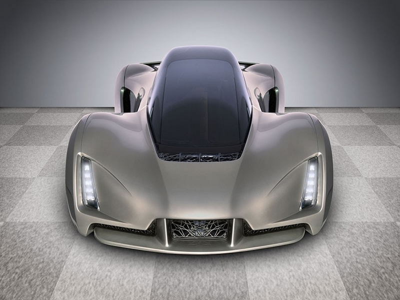 Blade supercar with 3D printed chassis