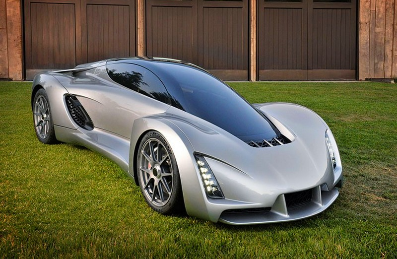Blade supercar with 3D printed elements