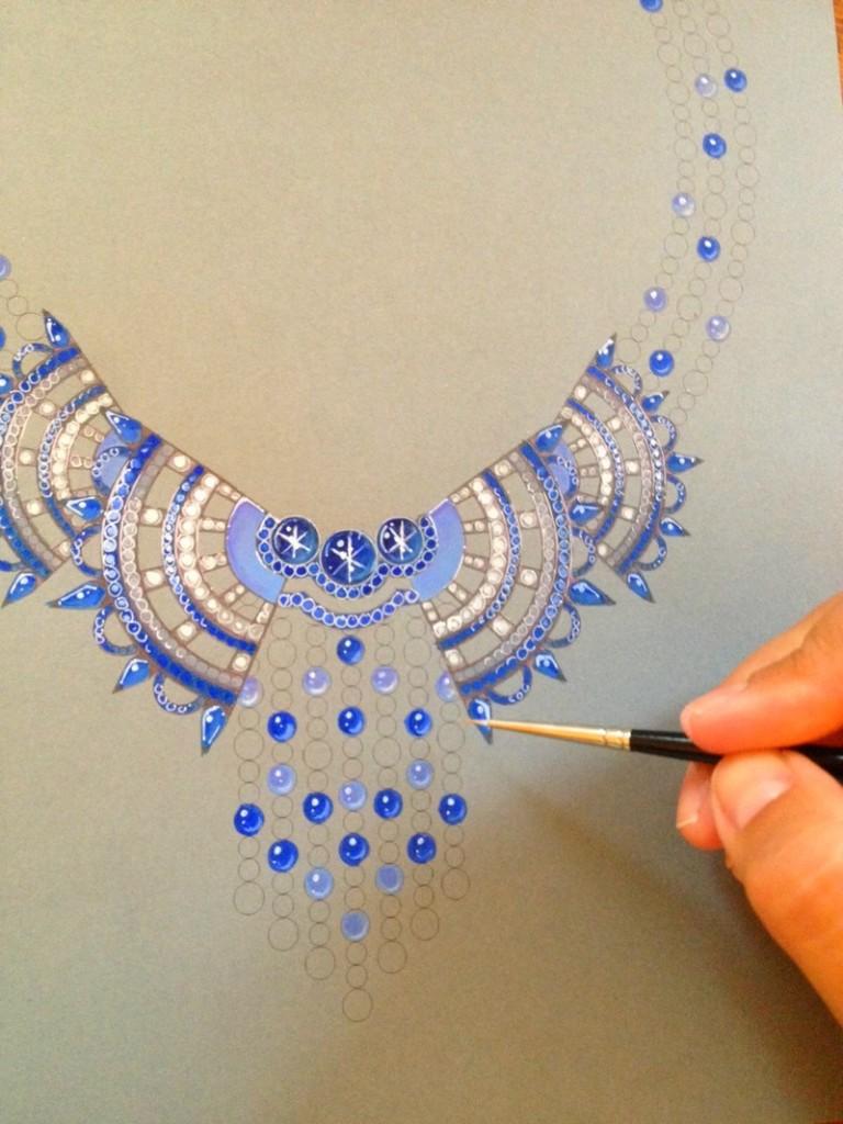 Bleu Carmen - Or gris, diamants saphirs- John Rubel Jewelry - 2luxury2