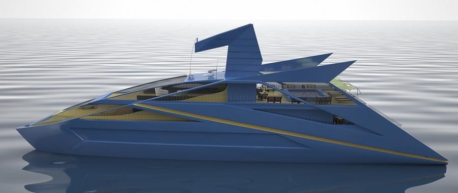 Blue Bird superyacht by designer -vasilyklyukin