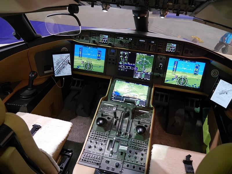 Bombardier Global 7000 Luxury Jeto-cockpit