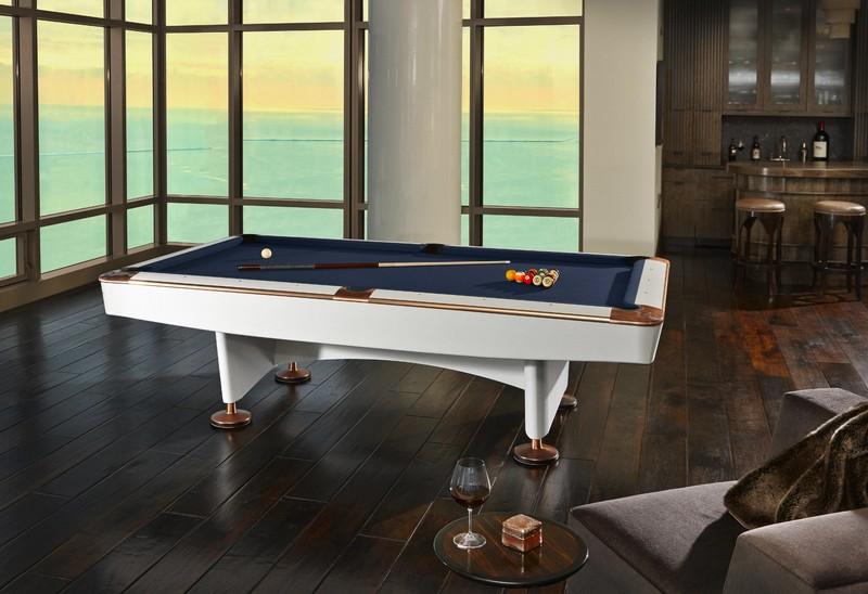 Brunswick Billiards White Gold Crown IV Limited Edition Billiards Table