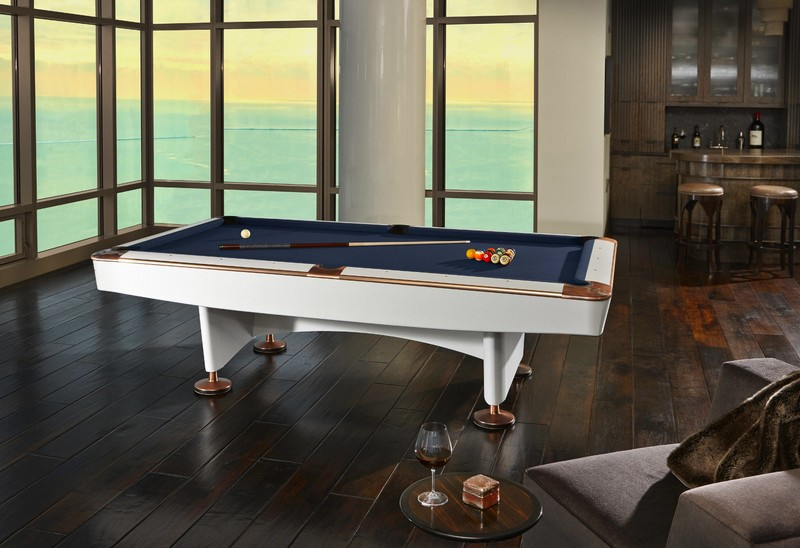 Brunswick Billiards White Gold Crown IV Limited Edition Billiards Table