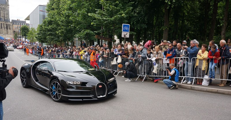 Bugatti Chiron celebrates its debut in France at the 24 Hours of Le Mans 2016
