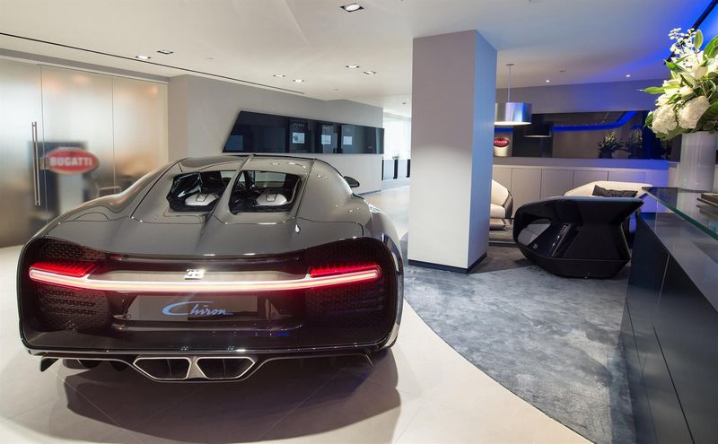 Bugatti is celebrating the reopening of its London showroom