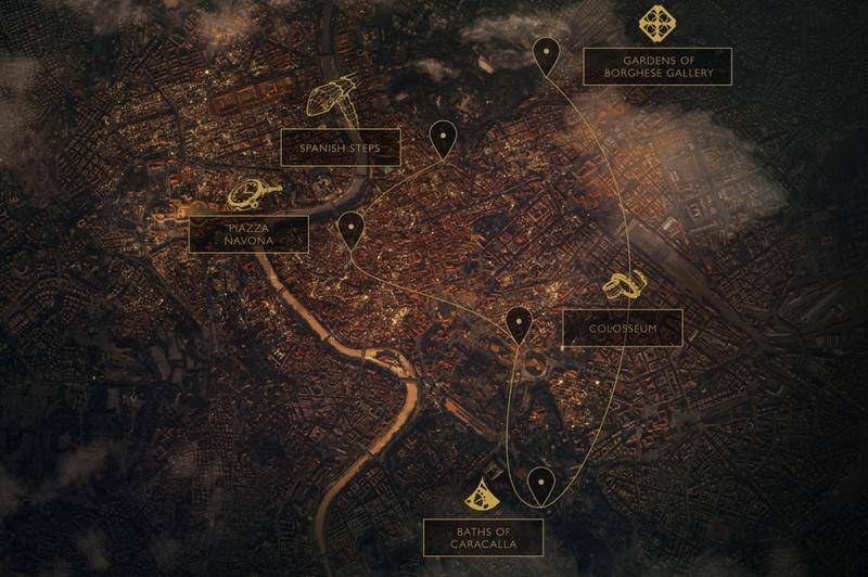 Bulgari Roman Treasures -  map