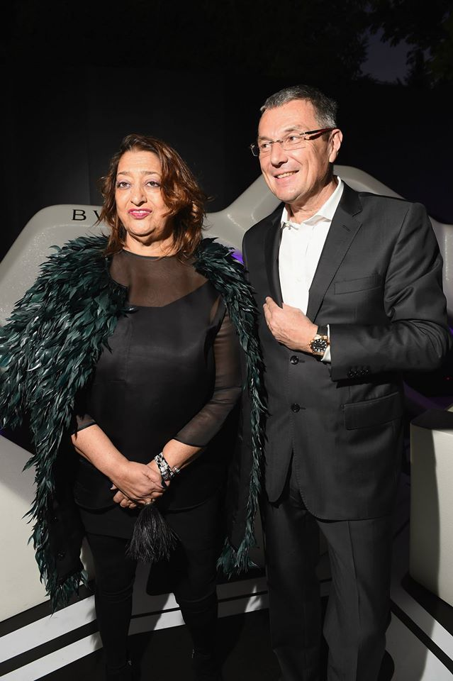 Bulgari and Zaha Hadid celebrates the unveiling of a Serpenti installation – Zaha Hadid and Jean Christophe Babin