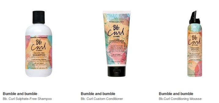 Bumble and Bumble Curl Collection