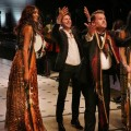 Burberry 2015 - Christopher Bailey, Naomi Campbell, Jourdan Dunn and James Corden beckon guests back to the garden party after the runway show