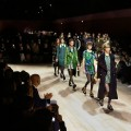 Burberry AW2016  - Edie Campbell leads the Burberry finale of textures, colours and patterns