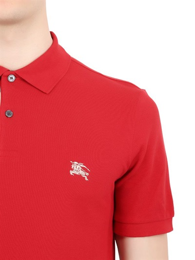 Burberry Brit LOGO EMBROIDERED COTTON PIQUÉ POLO