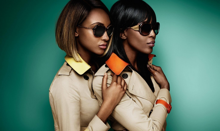 Burberry Sunglasses from The Gabardine Collection, inspired by the trench coat fabric