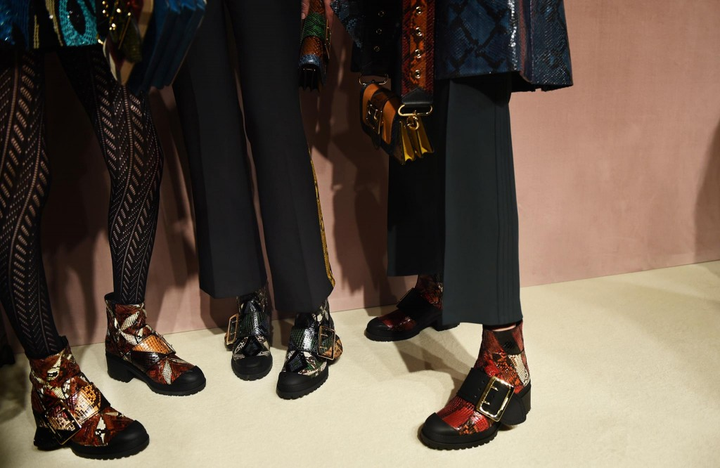 Burberry - The Buckle Boot utility-inspired with patchwork detailing
