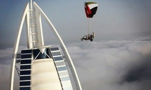 Burj al Arab from a different angle -Rise above the clouds