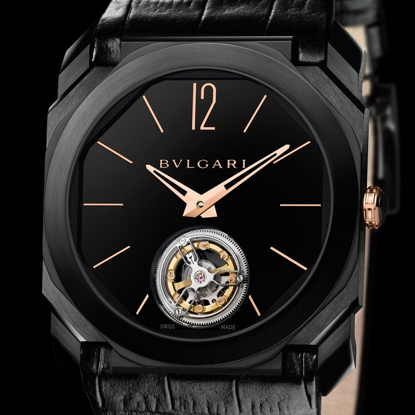 Bvlgari Octo Ultranero Finissimo Tourbillon watch-
