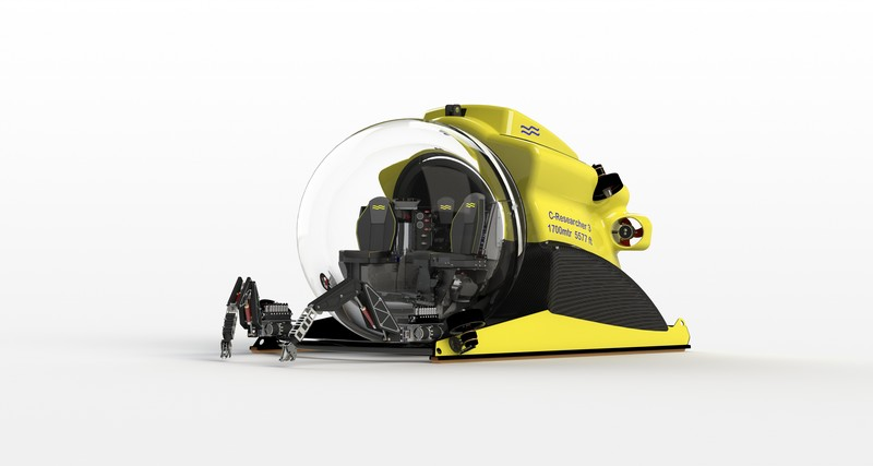 World S First Transparent 3 Person Submersible Capable Of