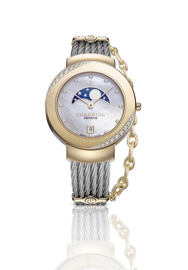 CHARRIOL ST-TROPEZ 35  Diamonds Eclipse watch 2015