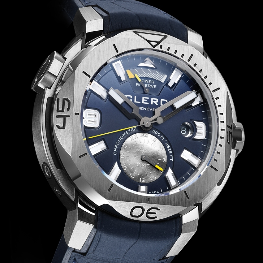 CLERC Hydroscaph GMT Power-Reserve Chronometer dive watch - baselworld 2016