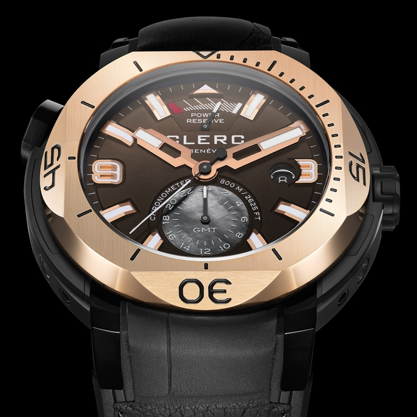 CLERC Hydroscaph GMT Power-Reserve Chronometer dive watch
