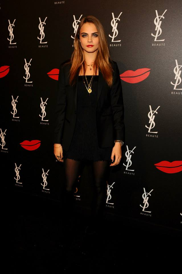 Cara Delevingne attends the YSL Beaute Makeup Celebration YSL Loves Your Lips