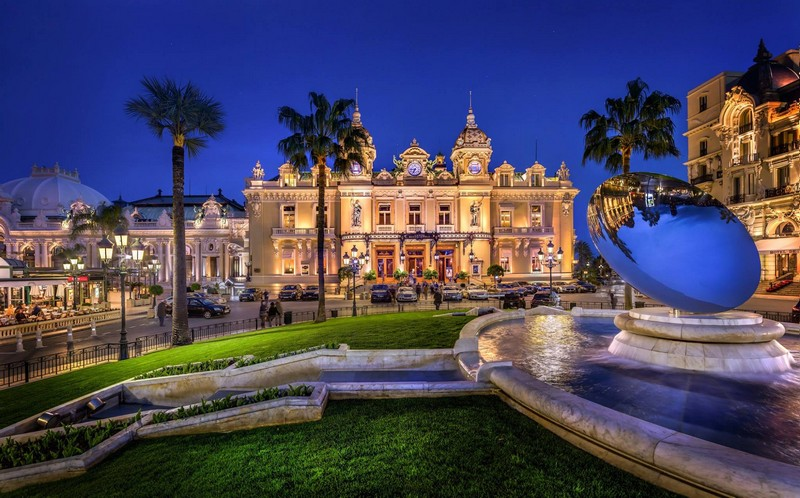Casino de Monte-Carlo- The Most Luxurious Casinos In The World-Place du Casino by night...