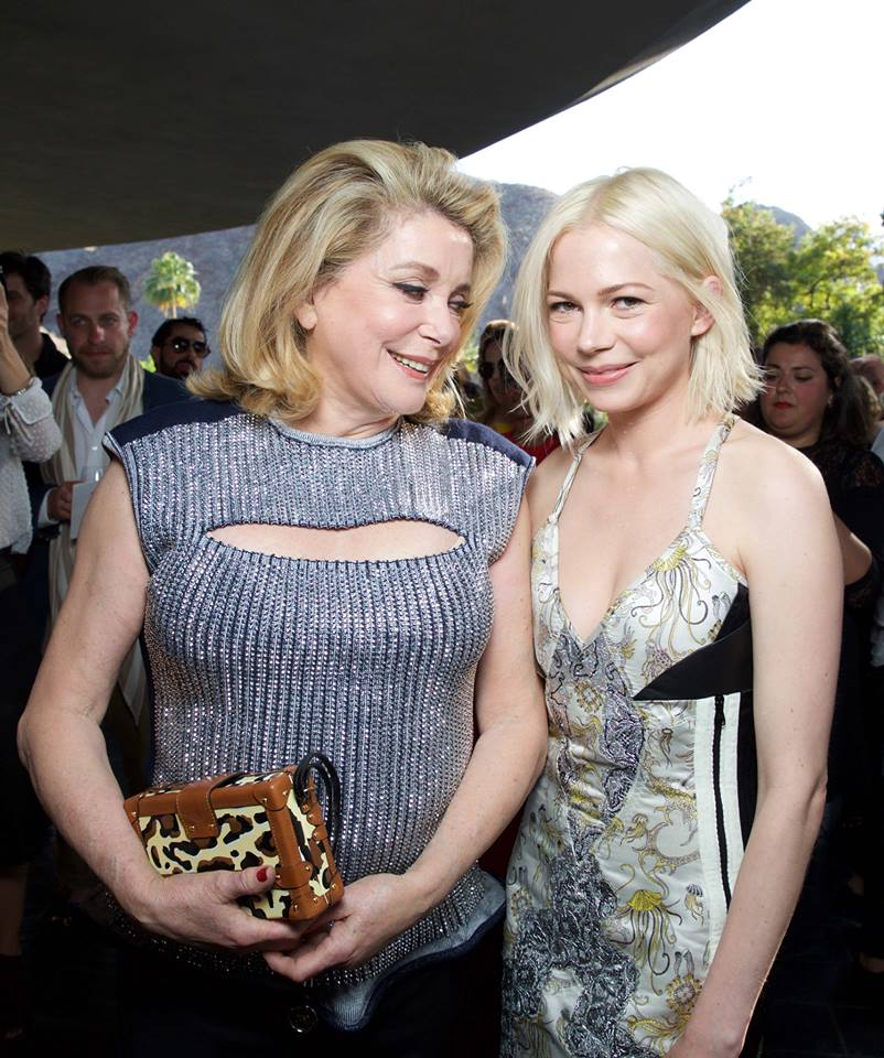 Catherine Deneuve and Michelle Williams at the Louis Vuitton Cruise 2016 Fashion Show