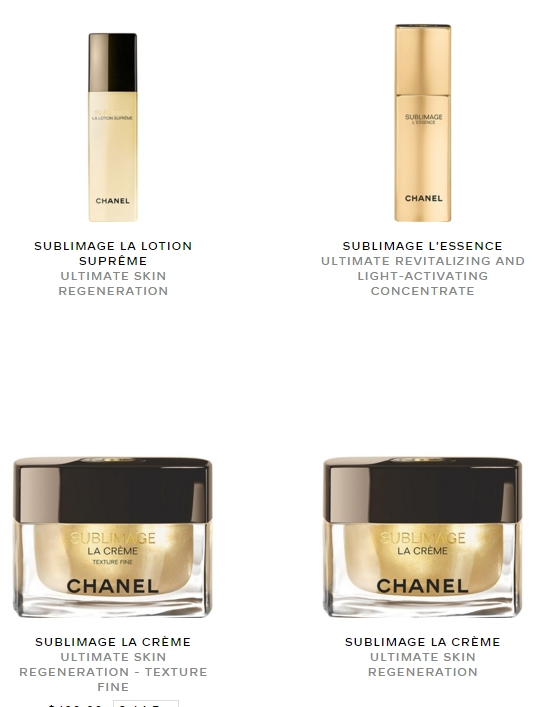 Chanel Sublimage Collection