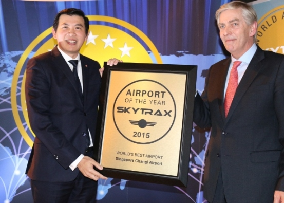 Changi Airport clinched the World's Best Airport title for the third consecutive year at the 2015 World Airport