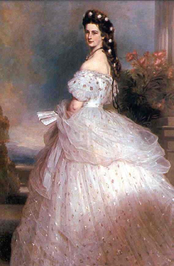 Charles Worth ballgown_Elisabeth of Austria 1865