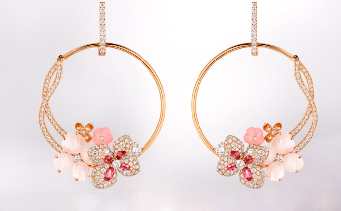 Chaumet Hortensia Collection earrings  2015