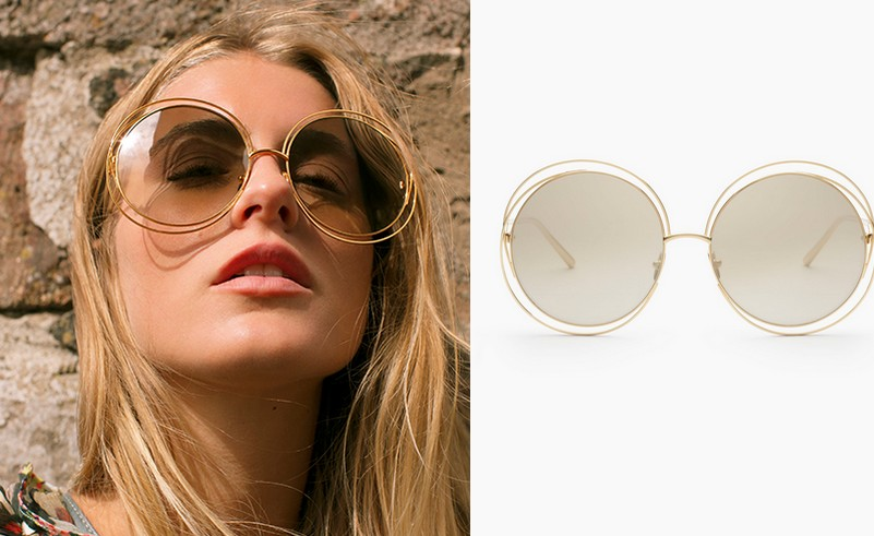 Chloé Carlina Golden Sunglasses - The Girl with Golden Eyes 2016