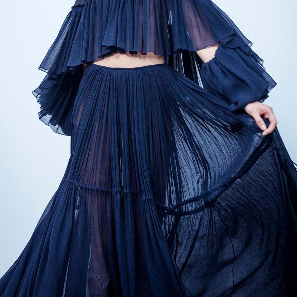 Chlor Spring - Summer 2015-soft and billowing flou dresses, as seen on the Spring-Summer 2015 runway