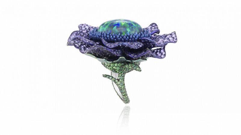 Chopard Fleurs d'Opale Haute Joaollerie Collection rings 2015