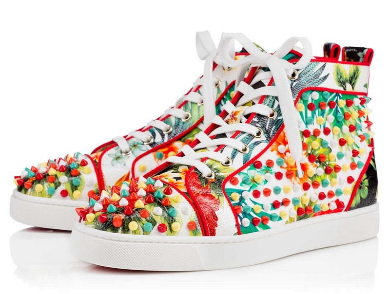 Christian Louboutin Aloha From Hawaii Kawai-Louis Orlato Spikes Men's Flat
