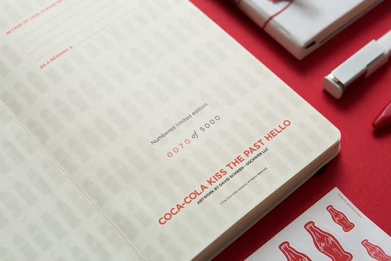 Coca-Cola bottle's 100th Anniversary on Moleskine notebook-