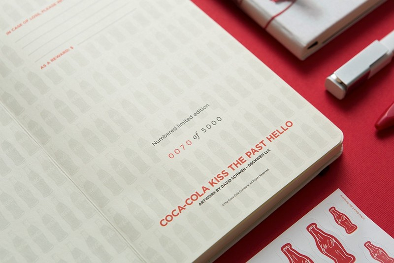 Coca-Cola bottle's 100th Anniversary on Moleskine notebook-