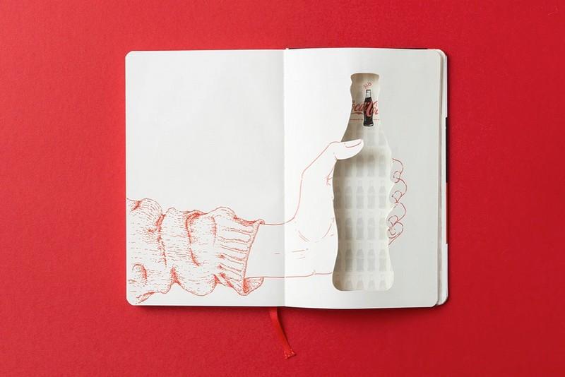 Coca-Cola bottle's 100th Anniversary on Moleskine notebook-4