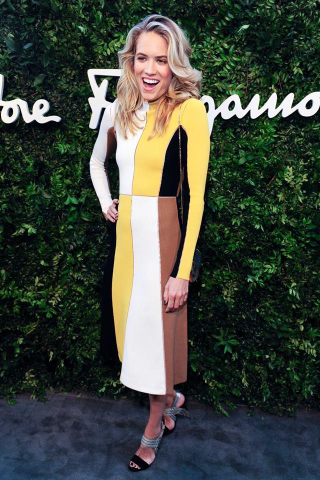 Cody Horn wears Ferragamo in Beverly Hills