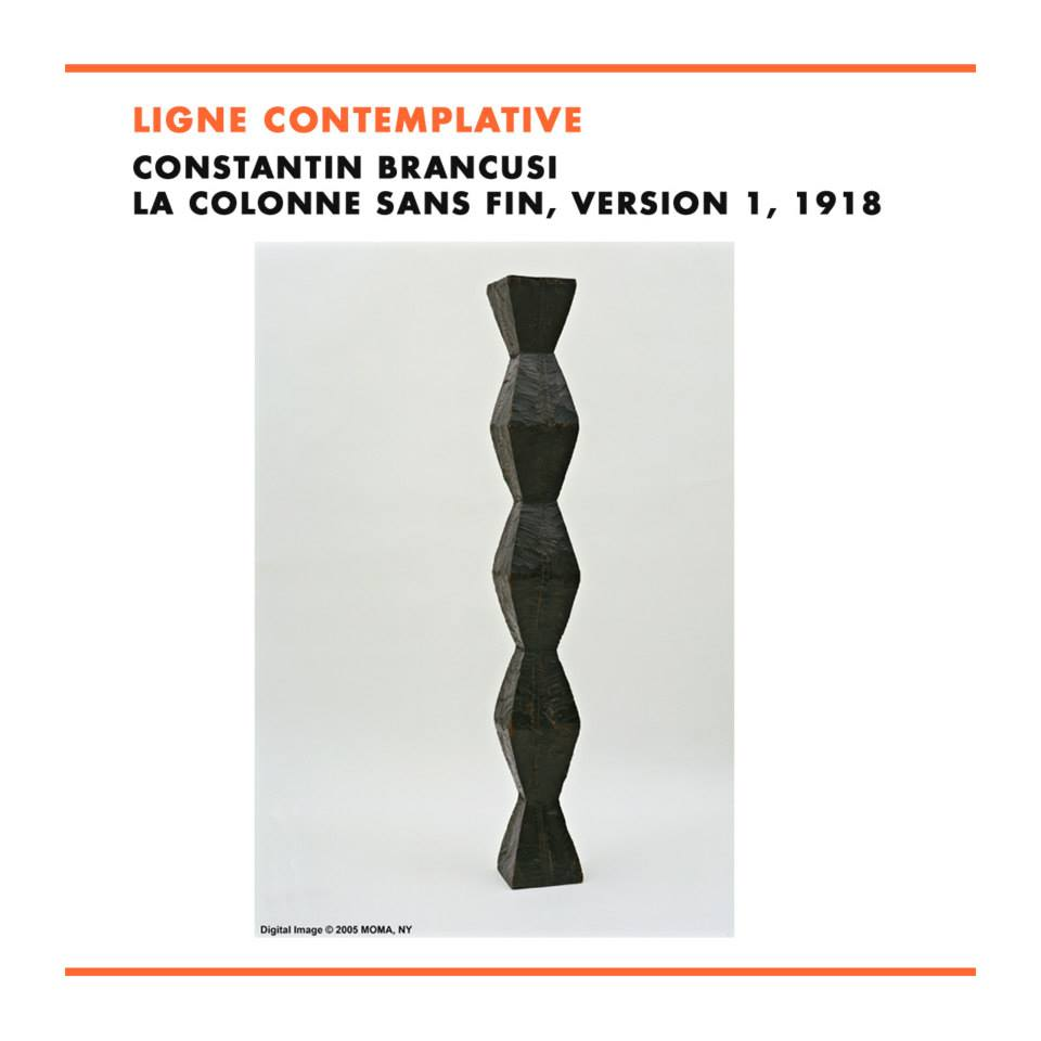 Constantin Brancusi, La Colonne sans fin, version 1, 1918, The Museum of Modern Art