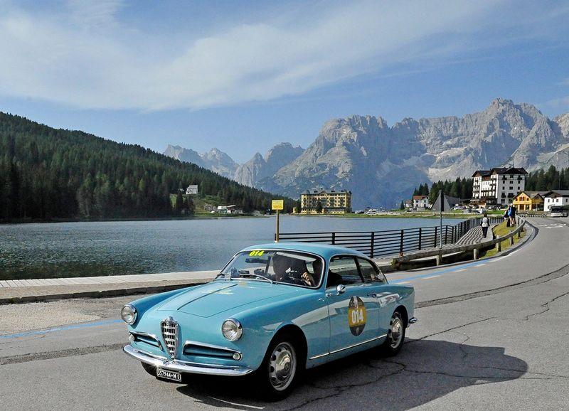 Coppa d'Oro delle Dolomiti 2016 won by Alfa Romeo - Cortina d'Ampezzo, Italy-