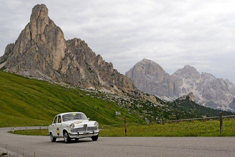 Coppa d'Oro delle Dolomiti 2016 won by Alfa Romeo - Cortina d'Ampezzo, Italy.