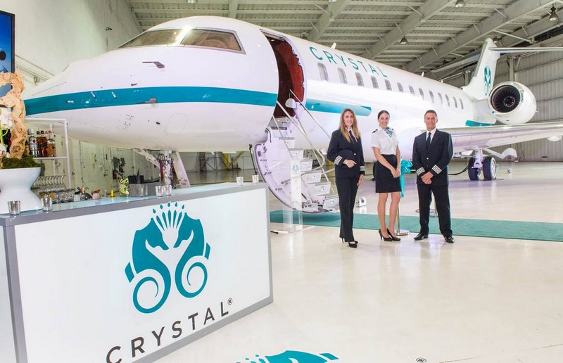 Crystal Cruises luxury cruise line adds a Bombardier Global Express XRS to its fleet