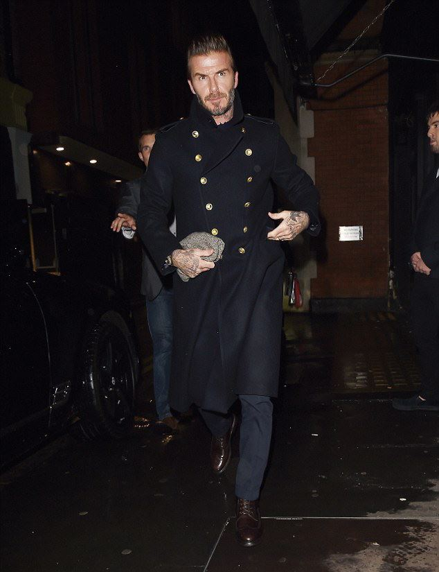 davidbeckham-wears-kentandcurwen-military-coat-for-collection-debut-dinner