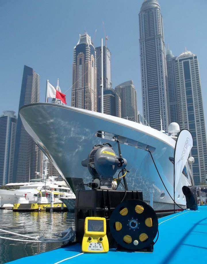 Deep Trekker waiting to do a hull inspection
