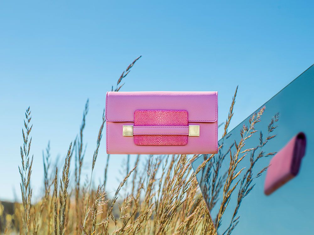 Delvaux Spring Summer 2015-bags-madame-portefeuille-long-polo-galuchat-flamingo