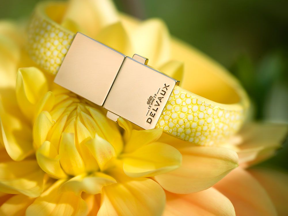 Delvaux Spring Summer2015-bracelet-madame-galuchat-mimosa